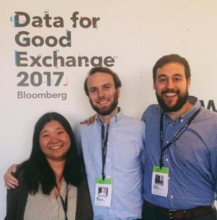 Ada Tso, Ben Simmons, and Chris Worley at the Data for Good Exchange, 2017